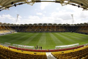 "Onderwerp/Subject: Roda JC Reklame: Club/Team/Country: Roda JC Seizoen/Season: 2008/2009 FOTO/PHOTO: Roda JC's stadium Parkstad Limburg Trefwoorden/Keywords: #10 $23 ± Photo- & Copyrights © PICS UNITED P.O. Box 1235 - 5602 BE EINDHOVEN (THE NETHERLANDS) Phone +31 (0)40 296 28 00 Fax +31 (0) 40 248 47 43 http://www.pics-united.com e-mail : info@pics-united.com (If you would like to raise any issues regarding any aspects of products / service of PICS UNITED) or e-mail : sales@pics-united.com ATTENTIE: Publicatie ook bij aanbieding door derden is slechts toegestaan na verkregen toestemming van Pics United. VOLLEDIGE NAAMSVERMELDING IS VERPLICHT! (© PICS UNITED/Naam Fotograaf, zie veld 4 van de bestandsinfo 'credits') ATTENTION: © Pics United. Reproduction/publication of this photo by any parties is only permitted after authorisation is sought and obtained from PICS UNITED- THE NETHERLANDS The image is copyright to PICS UNITED or its associate photographers. Full name must be printed with the photo! (© PICS UNITED/Name Photographer, see field 4 of the File Info, 'credits"") You may not publish, reproduce on either an electronic bulletin board, corporate intranet or the Internet, licence, sell or otherwise distribute the image(s) without a Licence to do so from PICS UNITED."